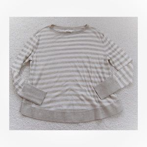 SUPER SOFT Lou and Grey Beige Stripe Crewneck S